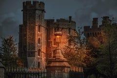 温莎城堡夜场面 库存照片