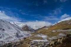 Горный вид Тибета Стоковое фото RF
