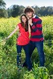 美好的夫妇爱的年轻人 免版税库存照片