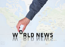 世界日报图表 图库摄影