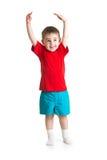 Маленький ребенок или ребенок растя изолированный Стоковые Фото