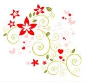 浪漫花卉的模式 免版税库存图片