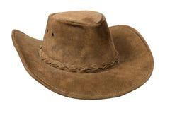 кожа шлема ковбоя Стоковая Фотография RF