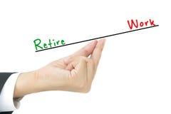 Концепция выхода на пенсию Стоковая Фотография