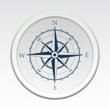 Διανυσματικό σύμβολο πυξίδων ανεμολογίων με τη σκιά Στοκ Φωτογραφίες