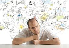 创造性的生意人 库存图片