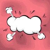 Шуточный пузырь речи конспекта шипучк-искусства Стоковое Изображение