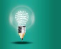 创新用词做的企业概念 免版税库存照片
