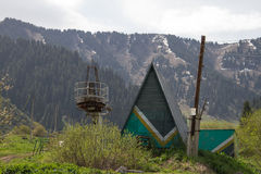 被放弃的手段滑雪 库存照片