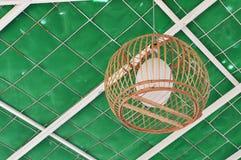 Бамбуковая лампа Стоковое Фото