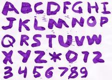 字母表 图库摄影