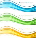 套颜色曲线线设计元素 免版税图库摄影