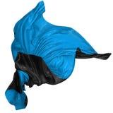 在风的抽象两色丝绸 免版税库存图片