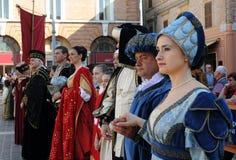 средневековый парад Стоковые Фото