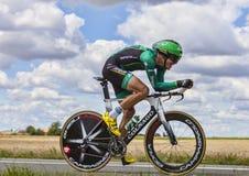 骑自行车者克里斯托夫克恩 图库摄影