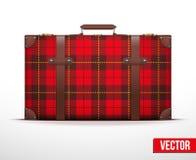 旅行的经典葡萄酒行李手提箱 库存照片
