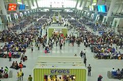 中国现代火车站 免版税库存图片