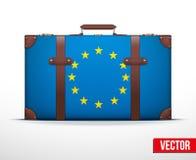 Κλασική εκλεκτής ποιότητας βαλίτσα αποσκευών για το ταξίδι Στοκ φωτογραφία με δικαίωμα ελεύθερης χρήσης