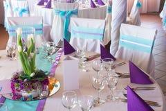 婚礼或事件桌 免版税库存图片
