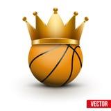 与皇家冠的篮球球 免版税库存图片