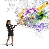 创造性的企业想法 库存照片