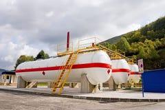 станция газа естественная Стоковые Фотографии RF