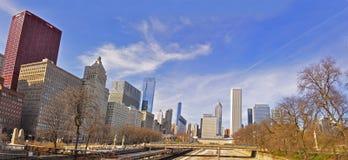 芝加哥格兰特公园全景 免版税库存照片