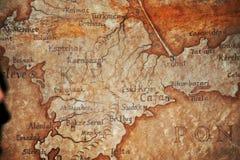 老葡萄酒减速火箭的古老地图 免版税库存图片