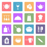 Значки утварей кухни Стоковая Фотография RF