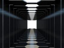 未来派的走廊 免版税库存图片