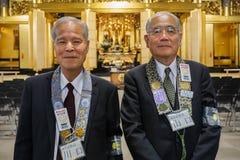日本资深带位者 免版税库存照片