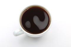 一杯咖啡的顶视图 免版税图库摄影
