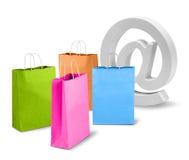 Καθαρή εμπορική έννοια ηλεκτρονικού εμπορίου Στοκ εικόνα με δικαίωμα ελεύθερης χρήσης