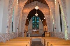 教堂在森林 免版税库存图片