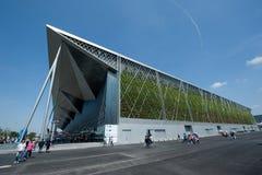 Выставочный зал экспо мира Шанхая Стоковые Фотографии RF