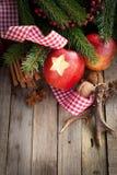 Время рождества, яблоки Стоковые Фотографии RF