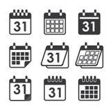 Календарь значка Стоковое Изображение