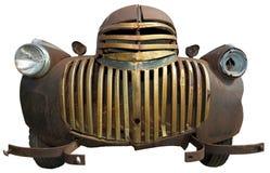 被隔绝的老减速火箭的葡萄酒古董雪佛兰农厂卡车 免版税库存照片
