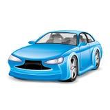 蓝色汽车 免版税库存图片