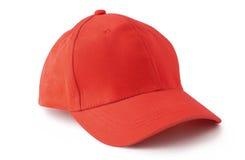红色棒球帽 免版税库存图片