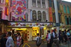 唐人街新加坡 免版税库存图片