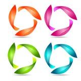 Абстрактные цветастые знаки Стоковое Изображение RF