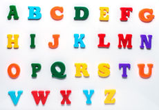 英国玩具字母表 库存照片