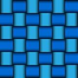 Лоснистая голубая предпосылка мозаики Стоковая Фотография
