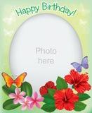 照片的生日框架 库存图片