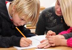 家庭作业学校 免版税图库摄影