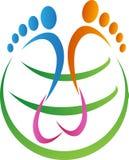 全球性脚印刷品 图库摄影