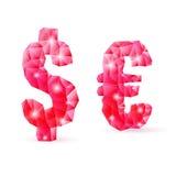 Рубиновый полигональный шрифт Стоковые Фотографии RF