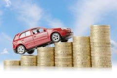 Деньги автомобиля Стоковые Фото