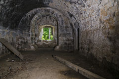 Внутренние руины замка Стоковая Фотография RF
